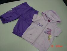 NWT Disney Toddler Girl Capri Lavender Purple Tinkerbell 4T Hooded Shirt Outfit