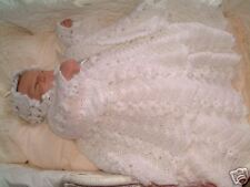 CROCHET PATTERN**DAISY CHAIN**BABY CHRISTENING GOWN SET