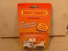 1986 MATCHBOX SUPERFAST MB61 SFPD POLICE M9 PETERBILT TOW WRECK TRUCK MOC