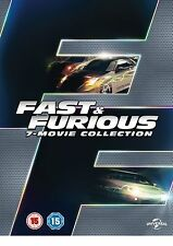 Fast And Furious Complete Dvd Box Set Collection All Movies Part 1 2 3 4 5 6 & 7