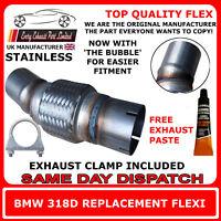 BMW 318D Exhaust Flexi Flex Easy Repair DPF, Cat Pipe, Catalyst Stainless