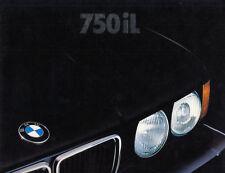 Bmw 7 7er e32 750il Long wheelbase 29x34cm folleto brochure English EE. UU./G