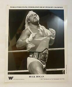 Hulk Hogan: Heavyweight Champion ORIGINAL 1987 WWF 8X10 Promo Photgraph! WWE!