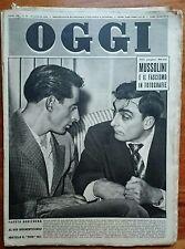Rivista Oggi 1951 n°28 Mussolini Coppi Dior