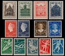 ✔️ NETHERLANDS 1948 - COMPLETE YEAR SET - NVPH 500/512 ** MNH OG