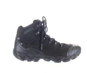 Oboz Mens Bridger Midnight Black Hiking Boots Size 10 (2098403)