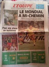 L'Equipe Journal 23/06/1998; Mondial de Football/ Roumanie-Angleterre: 2-1