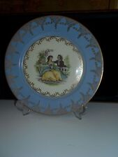 German dish Fine Porzelain BAVARIA Bayreuth board with gold signed Watteau