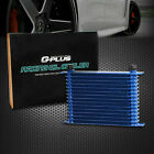 Fit For 15-row 10an Powder-coated Aluminum Transmission Engine Oil Cooler Blue