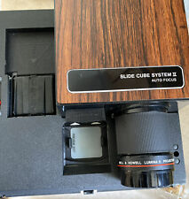 Bell & Howell Auto Focus F35mm slide projector CUBE Model AF70 System II