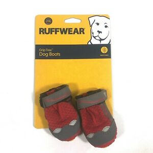 Ruffwear Grip Trex All Terrain Dog Boots Size 2.0 inch Red One Pair New