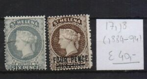 !  St Helena 1884-1894. Stamp. YT#17,18. €40.00!