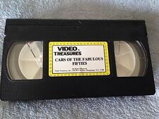 Cars of the Fabulous Fifties - VHS Video Tape - Documentary