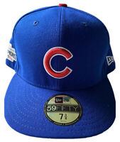 NEW ERA CHICAGO CUBS SZ 7 3/8 WORLD SERIES CHAMPIONS 59FIFTY HAT WS PATCH NWT