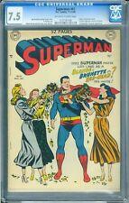 Superman #61 - CGC 7.5 Very Fine- Huge Key - No Reserve!