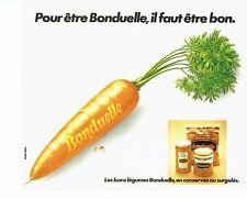 PUBLICITE ADVERTISING 126  1978   conserves surgelés  Bonduelle  carottes