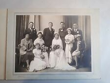 c1945 B/W Wedding Photograph. Thomas Howe Studio, Chatham. 40s Fashion/ Style