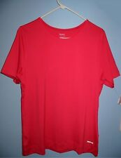 Women's XL Reebok PLAY DRY Athletic Crew T Shirt Pink