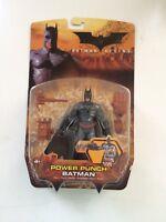 BATMAN BEGINS: POWER PUNCH/BATTLE DAMAGED BATMAN FIGURE - COMPLETE WITH BOX