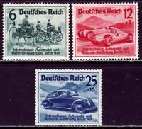 THIRD REICH 1939 mint MNH Berlin Automobile Exhibition stamp set! CV $132.50