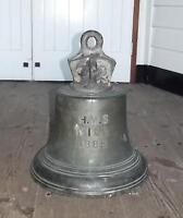 Bronze Ships Bell From The Victorian Trafalgar Class Battleship HMS Nile 1888