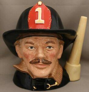 "Royal Doulton Large Size Character Jug - *""""The Fireman"" - D6697** - 18.4cm tall"