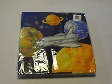 New package of 16 paper napkins space ship, planets- about 6 1/2