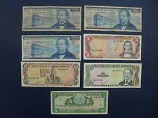 7No. 1968-1991 Nicaragua, Mexico & Dominican Rep 1, 5 & 50 Banknotes Vg-aUnc/Unc