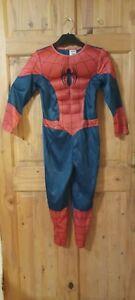 Marvel kids 7-8yrs Ultimate Spiderman Costume Halloween Fancy Dress