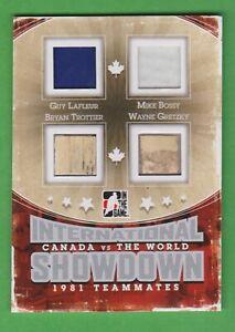 2011 ITG Showdown TM silver #IST04 G Lafleur/M Bossy/B Trottier/ Wayne Gretzky