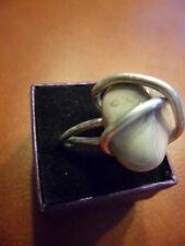 Ring mit ECHTEM  Lace Achat Fassung Aluminium Einzelstück  neu