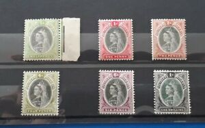 Southern Nigeria Stamps. 1901 Queen Victoria. Six Lightly Mounted Mint Stamps.