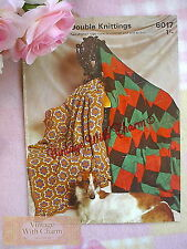 Vintage 8 page Afghan Crochet Pattern 1 Style To Crochet & 1 to Knit  NO UK P&P!