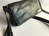 David Jones Paris Genuine Leather Crossbody Shoulder Bag With Key Chain