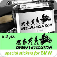 BMW MOTORCYCLE R1200GS/GSA/F800GS EVOLUTION L/R.PANNIERS/CASES DECAL/STICKERS.!!