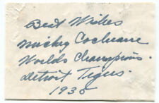 1935 Mickey Cochrane Autograph Note Signed