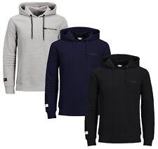 JACK & JONES Core Mens Sporty Overhead Gym Hoodie Casual Hooded Sweatshirt Top