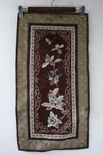 VINTAGE CHINESE SILK EMBROIDERY STITCH NEEDLEWORK SPARROW AND FLOWERS