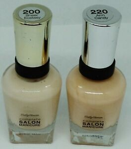 2 Shade Sally Hansen Complete Salon Manicure Nail Polish SHEER ECSTASY ARM CANDY