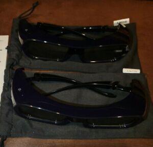 2 - Sony TDG-PJ1 Active 3D Glasses New