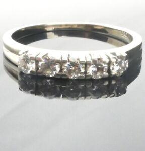 Wunderschöner Gold-Ring 585 14K Weissgold DIAMANT 0,45 ct. - Edler 1/4 Memory !*