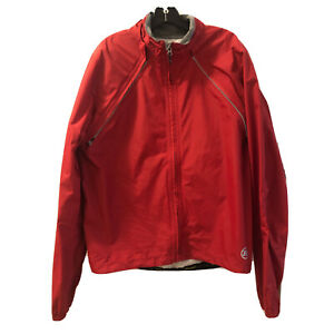 Novara Men's Conversion Bike Jacket Zip off Sleeves Red, Reflective Size XL