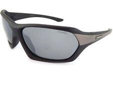POLAROID lunettes de soleil polarisées noir satiné/gris argenté miroir reflets
