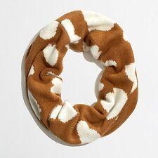 J. Crew Factory NWT - Mustard Brown Polka Dot Wool/Angora Knit Infinity Scarf