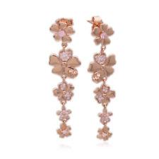Pandora Rose Gold Wildflower Meadow Pink Cz Earrings #287114NPR