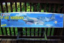 """Top Flite 1/7 Scale P-40 Warhawk NIB Complete Unused Kit 1993 Huge 54"""" Long 5401"""
