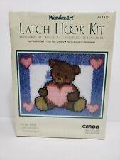Caron WonderArt Latch Hook Kit 4101 Heart Bear New 15� X 20� New Sealed