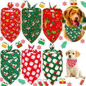 Polyester Dog Cat Puppy Kitten Pet Xmas Bandana Bandanas Christmas Party Collar
