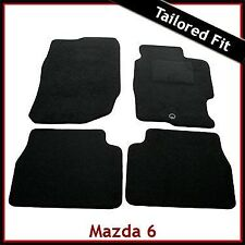 Mazda 6 Mk1 2002-2007 Fully Tailored Fitted Carpet Car Floor Mats BLACK