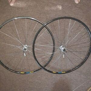 Vintage Campagnolo Athena Hubs 32 Spokes Mavic Open 4 CD Rims Wheelset!